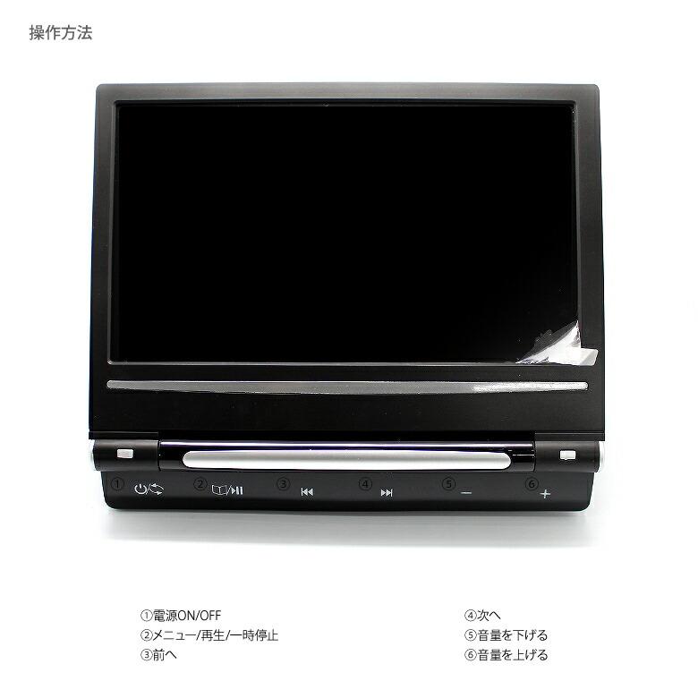 [シガーソケット挿し込み簡単取付♪]車載用ポータブルDVDプレイヤー/モニター9インチ ヘッドレスト用 CD/SDカード/USB/MP3-操作方法