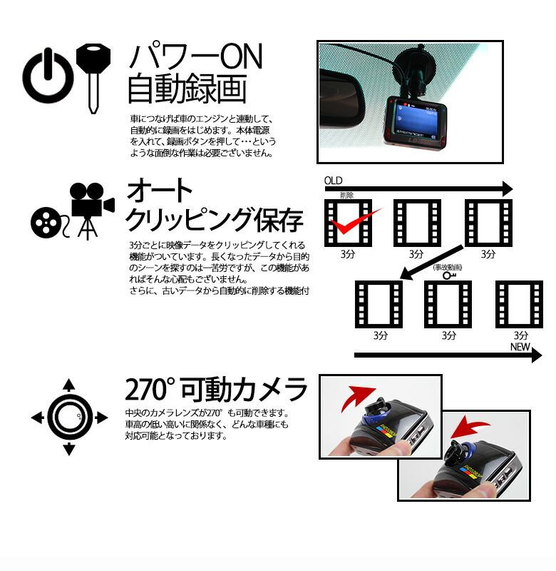 高画質フルハイビジョンで狙った瞬間を逃さないドライブレコーダ-機能3