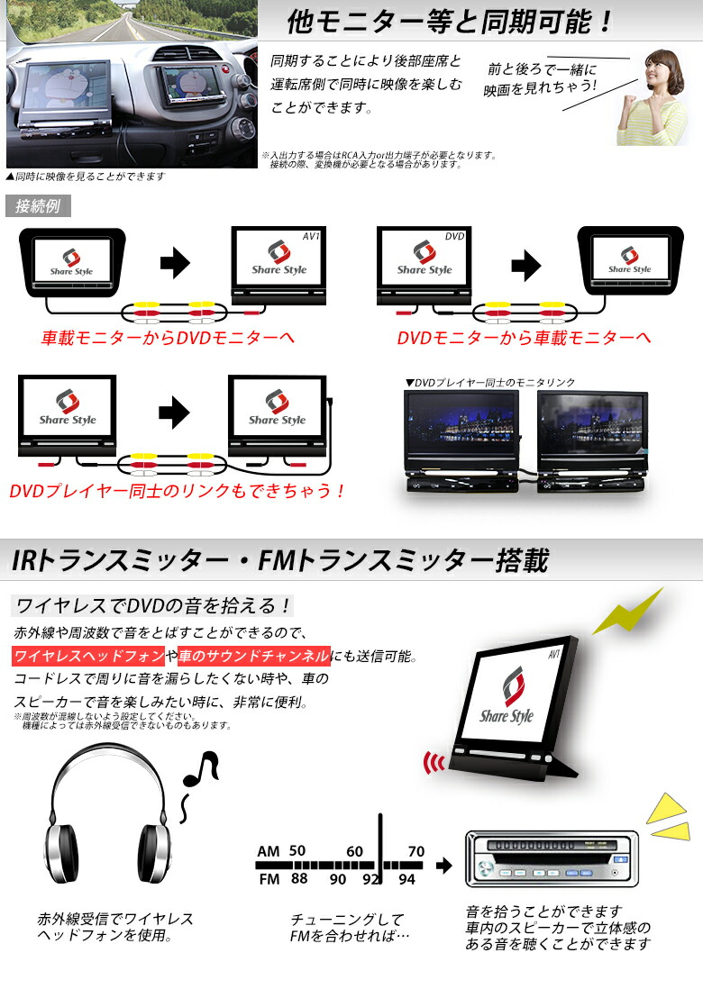 [�����������å��ޤ����ߴ�ñ���բ�]�ֺ��ѥݡ����֥�DVD�ץ쥤�䡼/��˥���9����� �إåɥ쥹���� CD/SD������/USB/MP3-��ǽ����