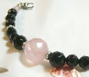 Rose crystal and onyx woman haori string