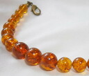 Natural amber men haori strings