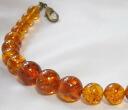 Natural amber men haori strings
