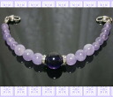 Natural stone fancy Amethyst women haori strings