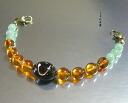 Super rare! Natural Prime black coral and natural amber haori strings
