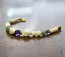Amethyst Lady haori strings with exotic ivory ( lacto )