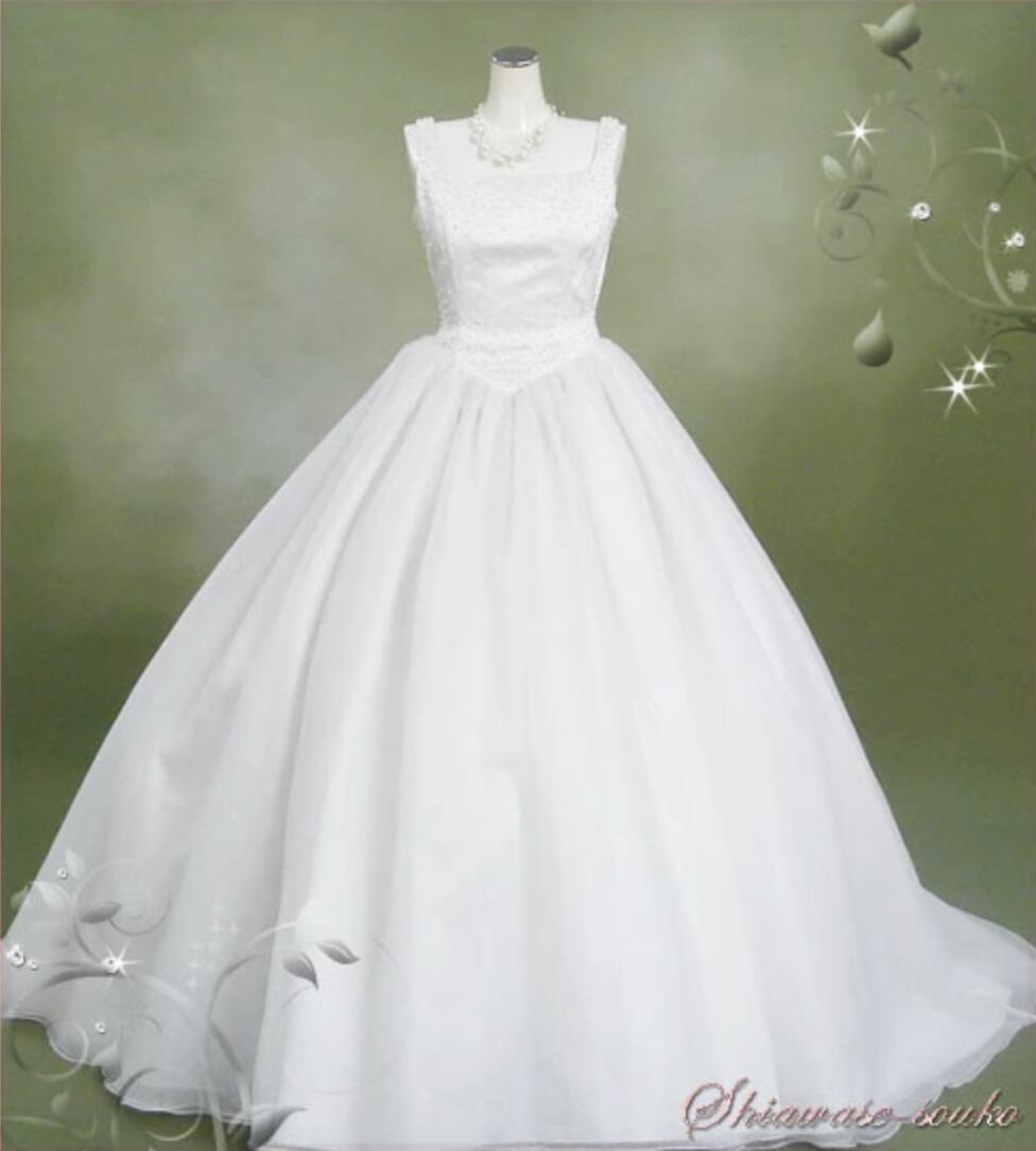 レンタル ウェディング ドレス「パールベルライン」9号 n026