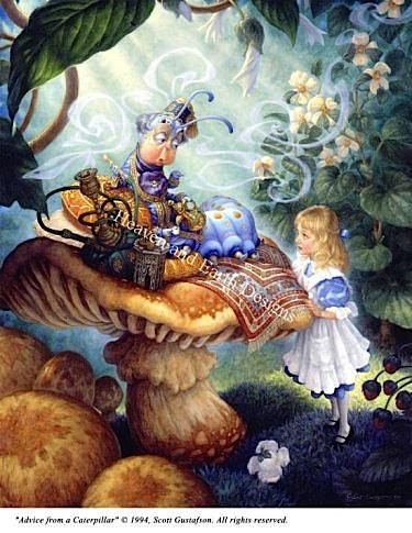 アメリカ発、Heaven And Earth Designs(HAED)の絵画のようなクロスステッチチャートAdvice From a Caterpillarの写真