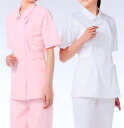 944 3 Colors ladies jacket short sleeve ( nurse doctor nurse care medical lab coats aprons AP-RON APRON )