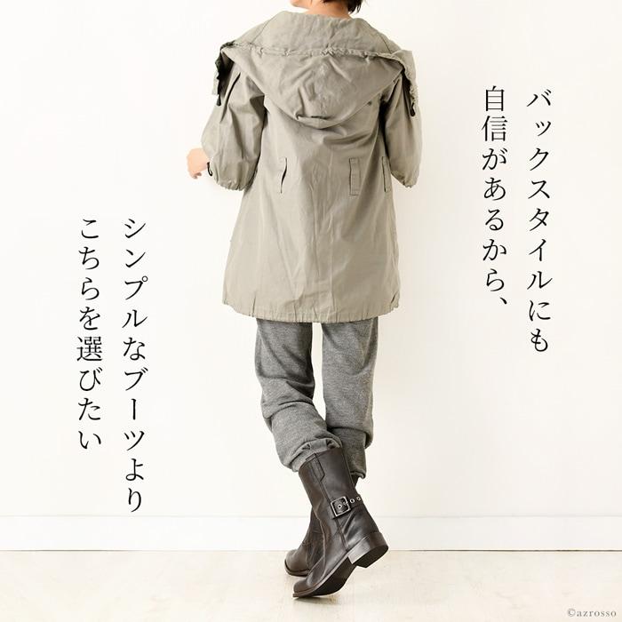 日本での人気を不動のものとしつつあるイタリアの高品質シューズブランドCORSO ROMA9(コルソローマ・ノーベ)。当店でもパンプス、ブーツを始め数多くのレディースシューズを長年にわたりご紹介させていただいている、信頼と人気のブランドです。美しいレディーシューズを作ることを得意としたCORSO ROMA9がパンツでブーツインにしてもスカートで合わせてもOKな足首の後ろを絞るベルトがクールなエンジニアブーツを作りました。