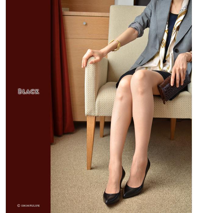 スペイン王室御用達の人気ブランド プーラロペス pura lopez 6cm ヒールパンプス<br />履きやすいきれいめパンプス 6センチヒール 痛くない 疲れない 歩きやすい 結婚式 セレモニーにも ブラック 黒 ベージュ plae411 モデル写真ブラック