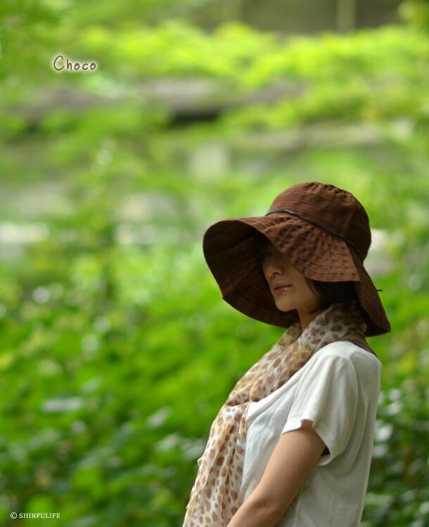 折りたたみUV帽子レディースイタリア製つば広ブリム12cm レディース 帽子 夏 帽子 UV カ