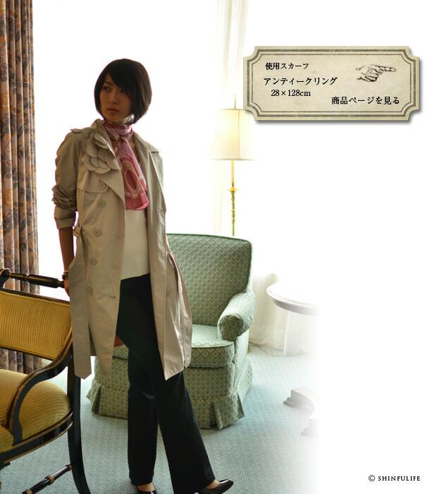 横浜スカーフ:アンティークリング 88×88cmのページへ
