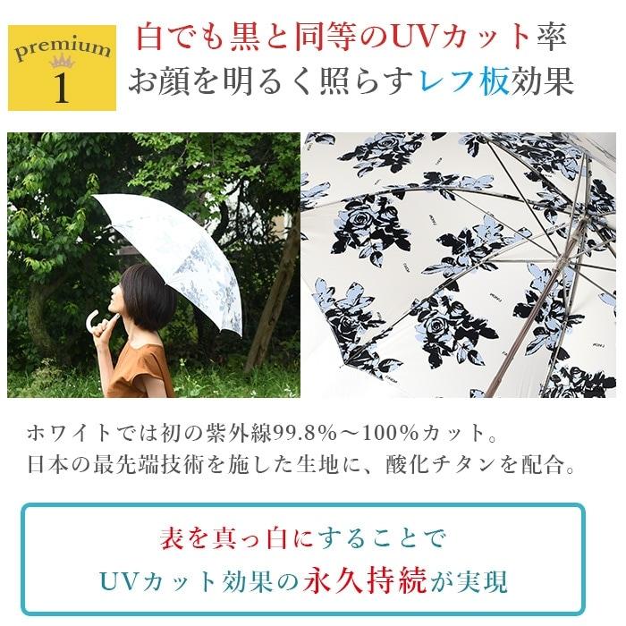 ブラックやシルバーの傘は、紫外線効果は高いものの、赤外線を通すので、差していると傘の中が非常に高温になり、体温を上昇させます。その結果、発汗を促し、お肌が汚れるだけでなく、空気中の見えない汚れが肌に吸着しやすくなります。ホワイトのUVIONは、傘がない時よりも体感気温を約 10℃下げることに成功しました!UVカットと清涼効果が1度に得られます。紫外線も、熱も通さないのはこの日傘だけ!!