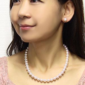 花珠真珠 ネックレス イヤリング ピアス セット あこや 大珠 9mm-9.5mm 花珠鑑別書付き ゴールドクオリティ