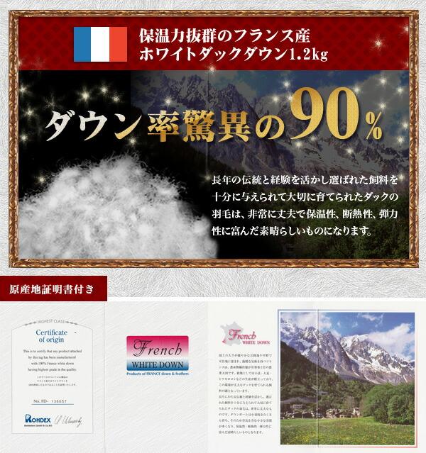 フランス産ホワイトダック60サテン_シングル