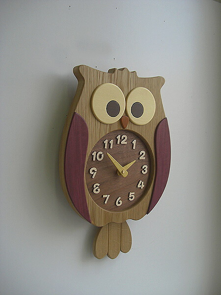 Shiro Rakuten Global Market Wooden Owl Pendulum Clock