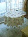 Hot selling! Restocked! round tablecloth ivory rose
