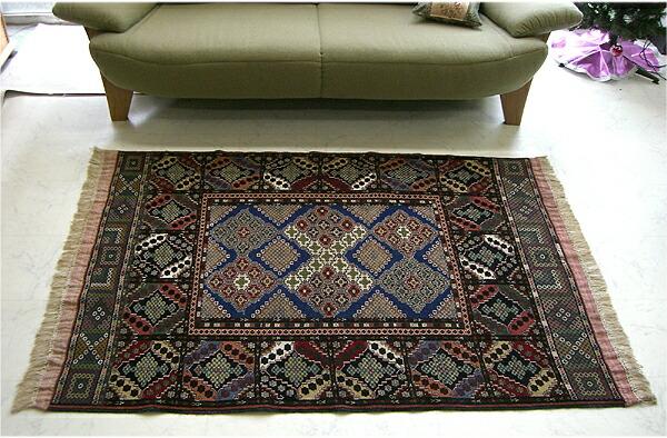 高档手工编织阿富汗地毯尺寸