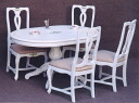 Crack paint antique dining set