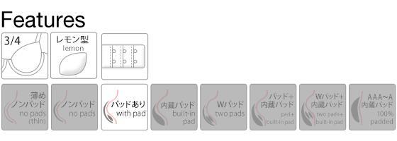 【トリンプ共同企画】キューティハート&リボン通しブラセット AA A