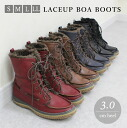 Low-rebound cushion with ♪ inside completely with Boa casual lace-up short boots fs3gm