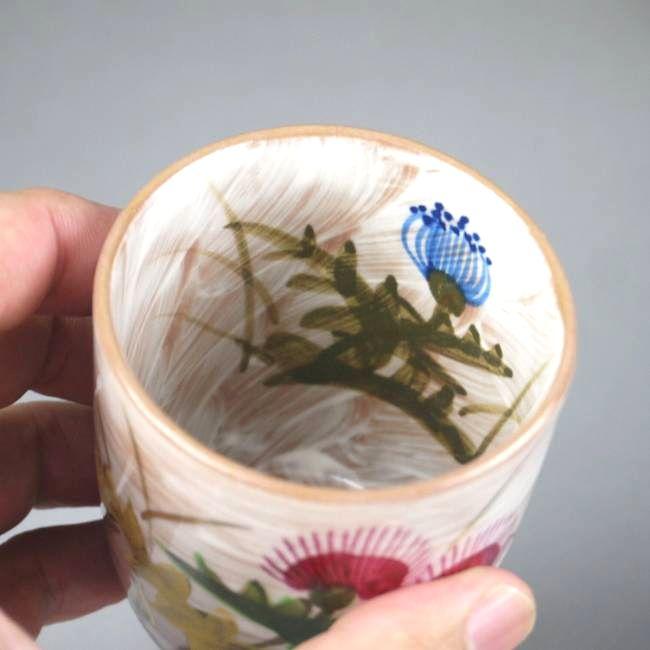 乾山 薊 夫婦湯飲み