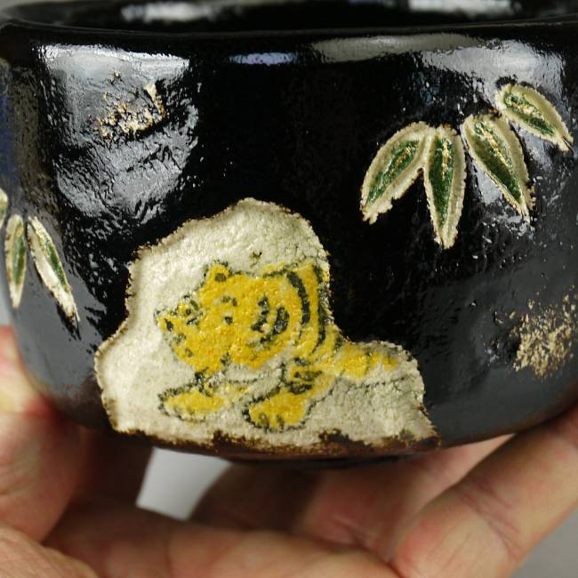 虎の抹茶茶碗
