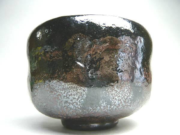 黒茶碗 稲妻 のんこう写 芳楽