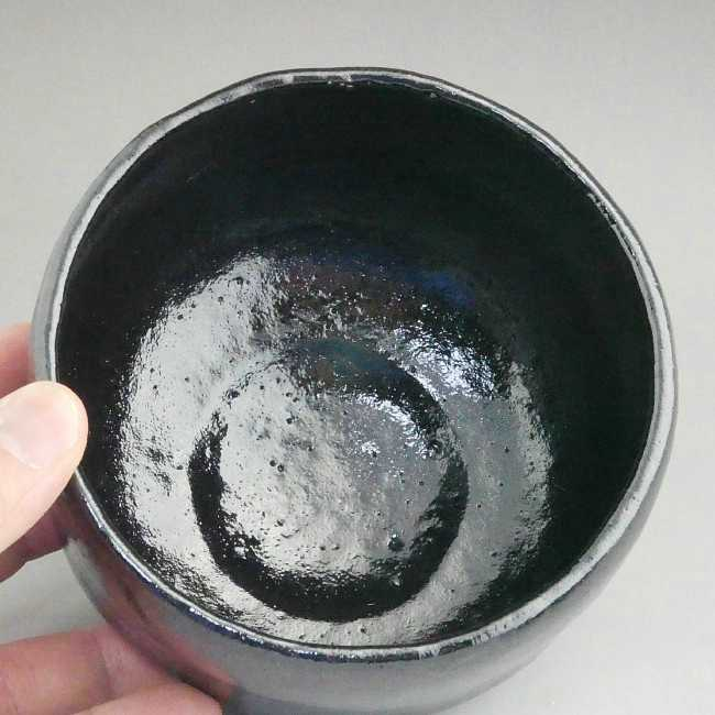 【京焼 清水焼】松楽作 黒茶碗(特上)