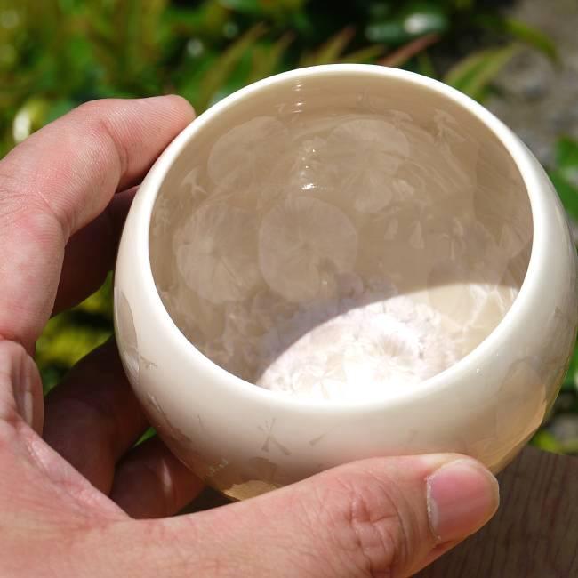京焼彫三島マグカップ 花月