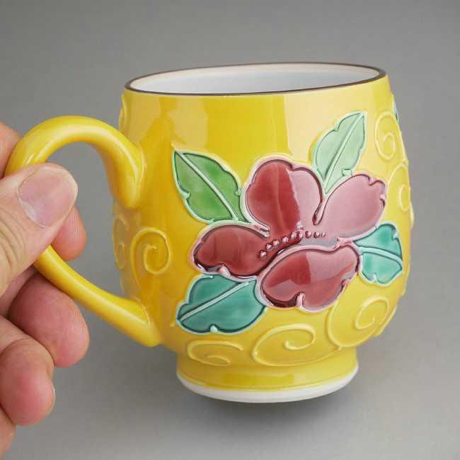 【京焼清水焼】おしどりマグカップ 昇峰