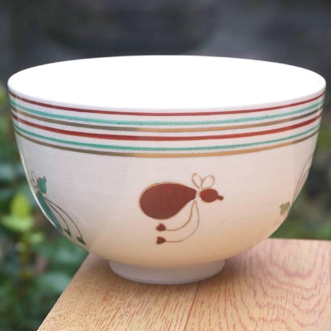 【京焼清水焼】抹茶碗 龍 隆雲