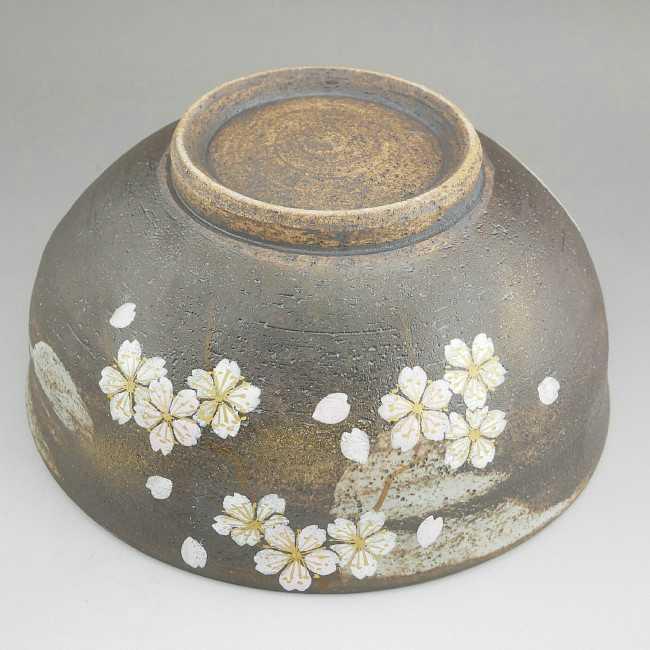 花かがり抹茶茶碗 八幡