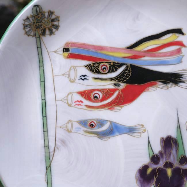 清水焼,京焼清風飾り皿陶あん