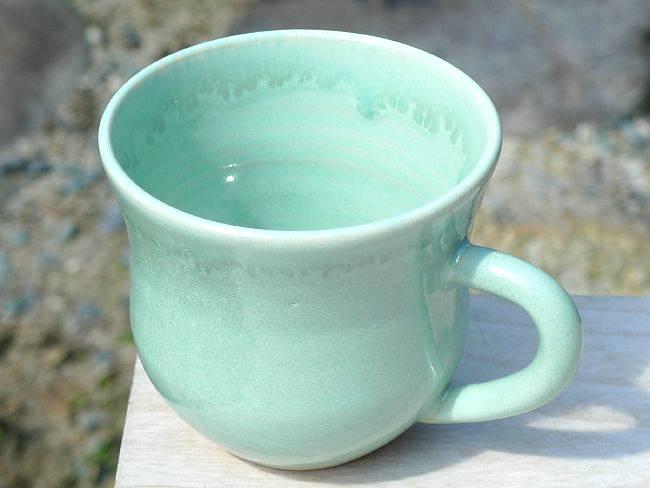 ガラス織部マグカップ