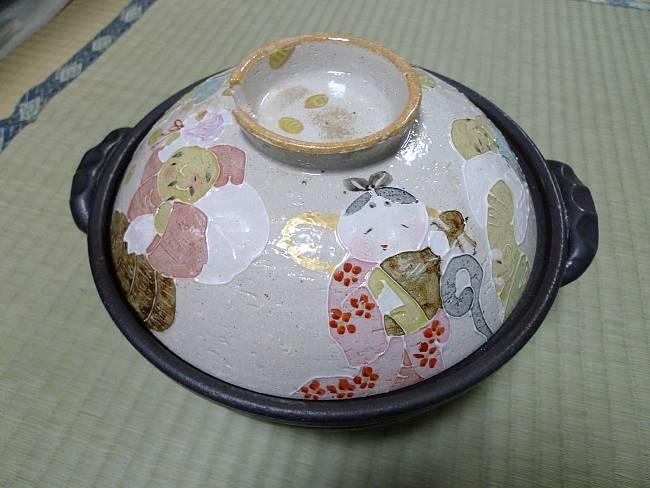 【京焼 清水焼】土鍋 七福神