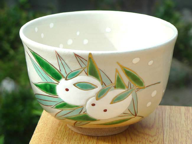 【京焼 清水焼】抹茶碗 紫陽花