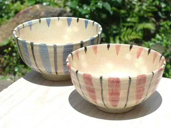 京焼清水焼十草夫婦茶碗