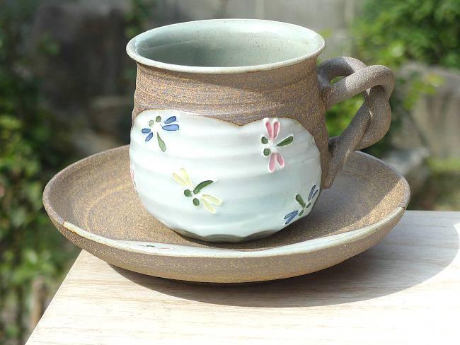 【京焼 清水焼】移ろい紅葉 コーヒーカップ