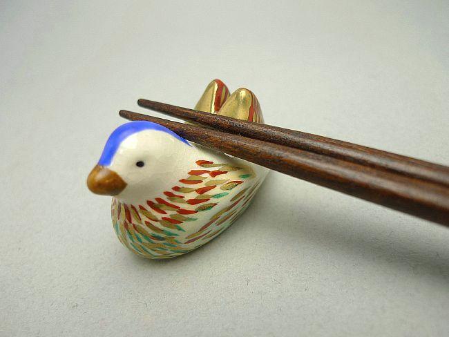 清水焼京焼の鴛鴦箸置き