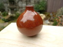 Kiyomizu ware bean small vase iron red