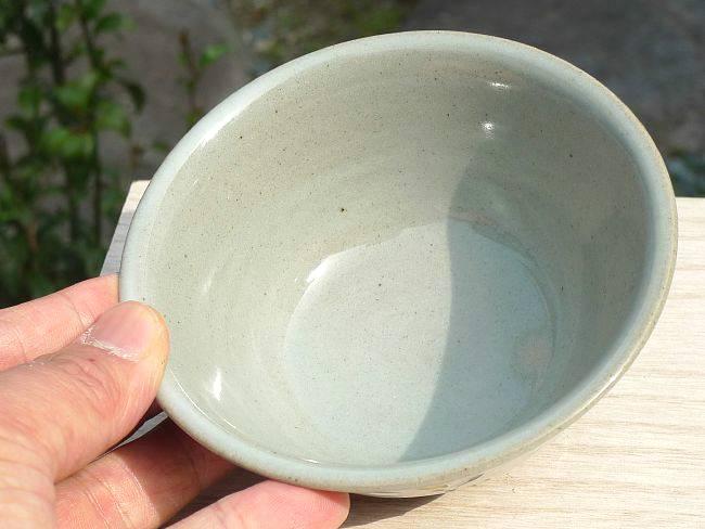 焼締クローバご飯茶碗
