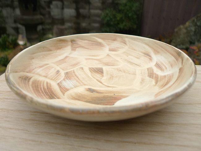清水焼窯元林山窯の林淳司作の刷毛目皿
