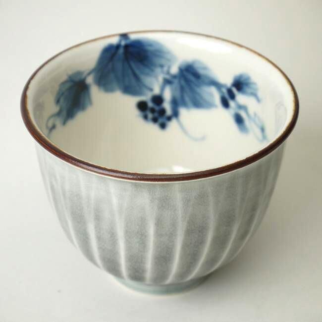 花交趾お茶呑茶碗 陶あん