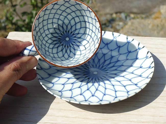 染付網コーヒ茶碗