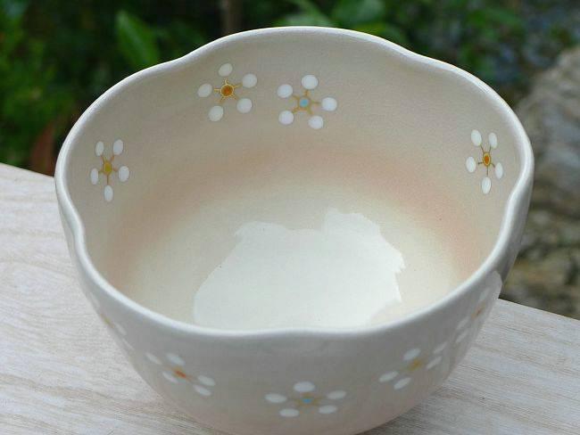 【京焼清水焼】色絵紅白梅抹茶碗 剛