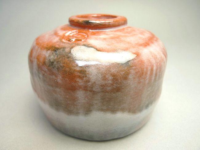 【京焼清水焼】赤茶碗 手捻り 特上 昭楽【送料無料
