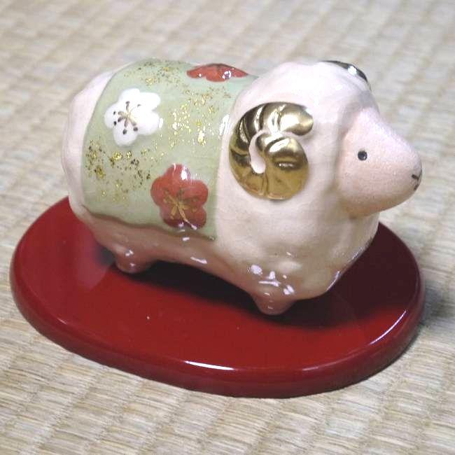 【京焼 清水焼】干支丑 白楽香合