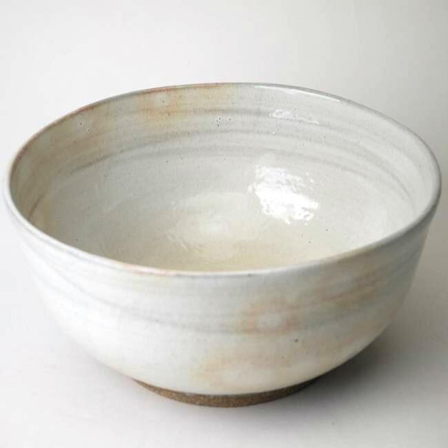 清水焼若手作家林淳司作粉引5寸皿