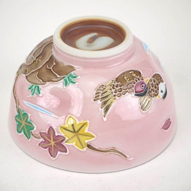 【京焼清水焼】紫交趾六瓢湯飲み 昇峰
